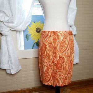 🎄Talbots Petites Paisley Skirt